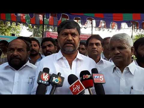 టీడీపీ ఎల్ రమణ  34th day Niravadika Sammey  Osmania University Non Teaching Contract Employees