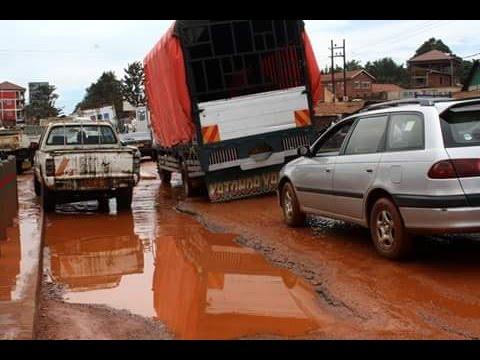 Kampala Road Floods April 2016