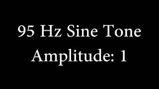 95 Hz Sine Tone Amplitude 1