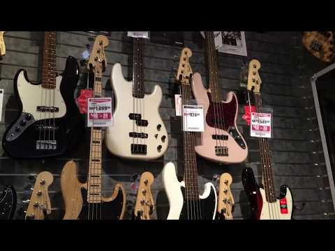 2017 Sam Ash New York City Visit Basses & Guitars