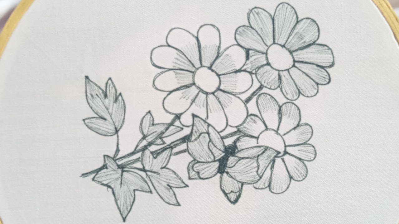 Beautiful hand embroidery work - Very easy hand embroidery flowers design- simple embroidery flowers