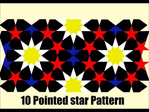 10 Pointed Star Geometric Puzzle