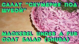 Салат «Скумбрия под шубой» / Mackerel under a fur coat salad (Shuba)