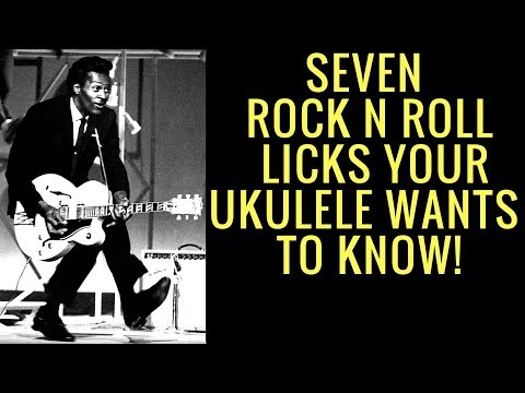 Seven Chuck Berry Licks for Ukulele! (FREE TAB)