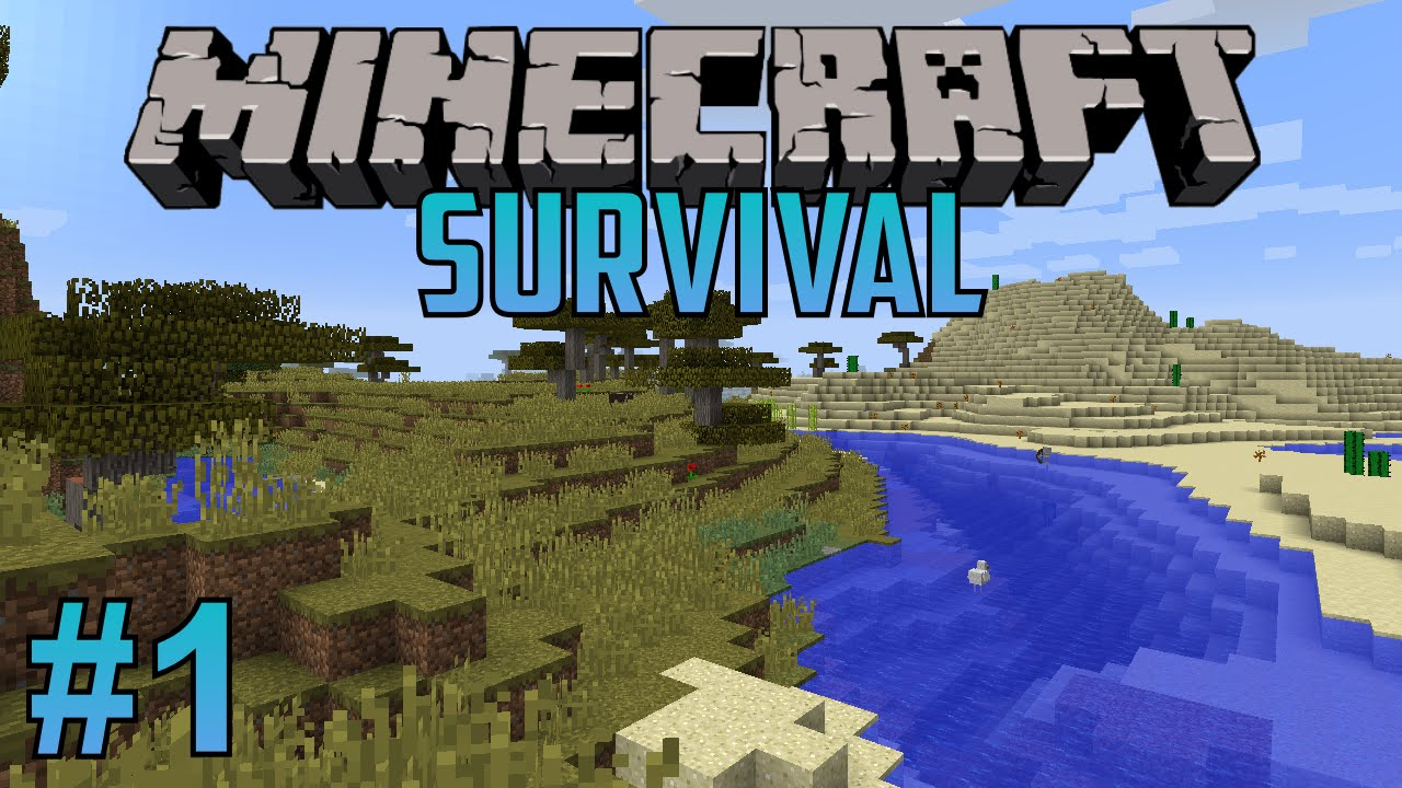 Minecraft Survival Episode 1 Jumping Right In Youtube