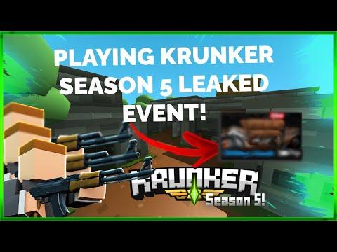 PLAYING ON LEAKED KRUNKER SEASON 5 MAP?