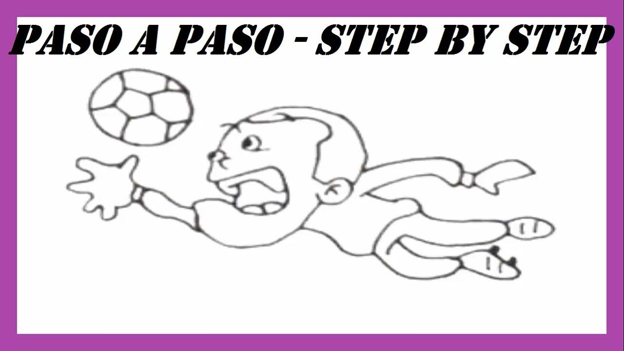 Como dibujar un Portero de Ftbol Profesional l How to draw a