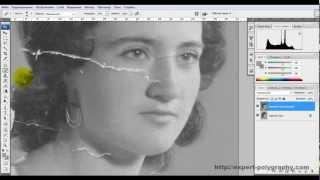 Реставрация фотографий в фотошопе. Удаление пятен.(ВИДЕО С САЙТА - http://expert-polygraphy.com/restavraziya_foto/. Реставрация фотографий в фотошопе не так..., 2012-11-17T21:37:49.000Z)