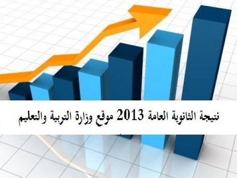 نتيجة الثانوية العامة 2013 موقع وزارة التربية والتعليم