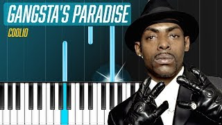"Coolio - ""Gangsta's Paradise"" Piano Tutorial - Chords - How To Play - Cover"