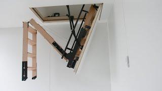 видео Чердачная выдвижная лестница. Описание и виды