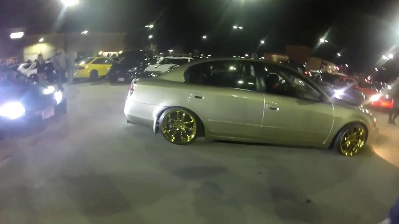 Maryland Car Meet 2017, Burnouts, Revs Etc!!! (cops Decide To Show Up)