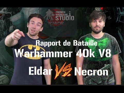 FWS Warhammer 40k V8 Rapport de bataille Necron Vs Eldar 2000 Pts