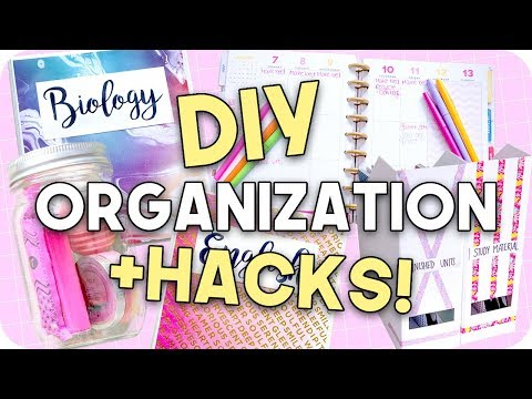 DIY Organization + Hacks for Back to School!