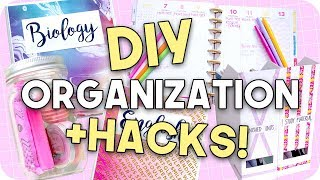 DIY Organization + Hacks for Back to School 2017!