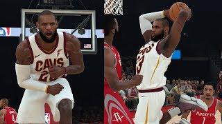 NBA 2K18 LeBron James MVP!! Highlights vs Rockets 2017.11.09
