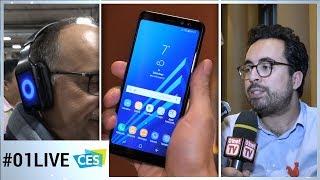 CES 2018 - 01LIVE #2 : Prise en main en EXCLU du Galaxy A8 de Samsung