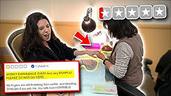Taking my Ex Girlfriend to the WORST REVIEWED NAIL SALON in my City! (SHE WAS MAD)