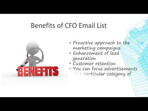 CFO Mailing List - CFO Email List - CFO Email Database - CTO List