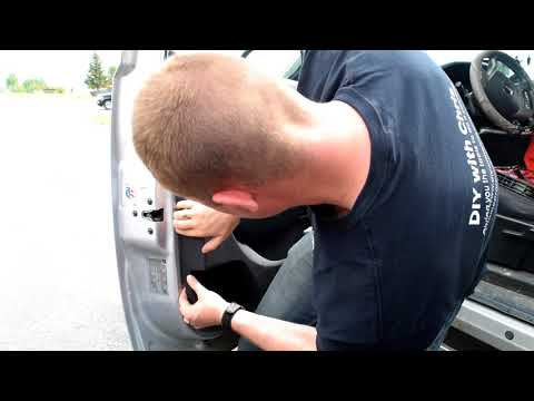 How to replace interior door handle on a 2011 GMC Sierra 2500