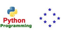 Python Pattern Program - Printing Stars in Hollow Diamond Shape