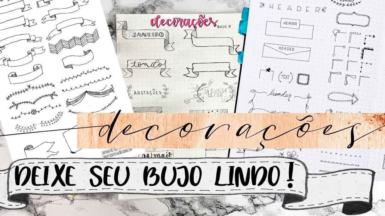 Banner Bullet Journal Ideias E Desenhos Lindos Para Decoracao