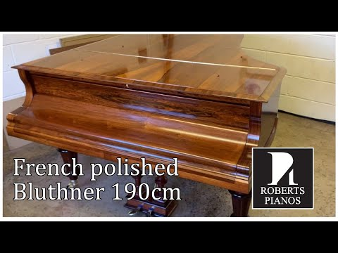 AFTER: French Polished Bluthner 190cm Grand Piano 1899; Video 2 Of 2