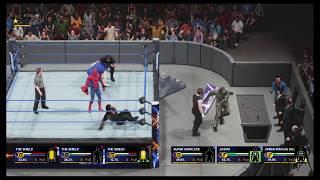 WWE 2K19 THE SHELD vs JASON-SUPER SONIC-SPDER MAN