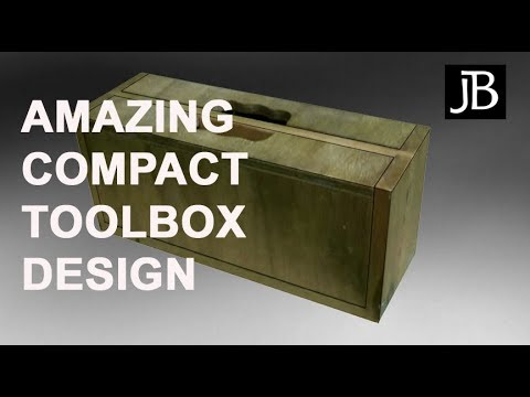 Amazing Wooden Compact Toolbox