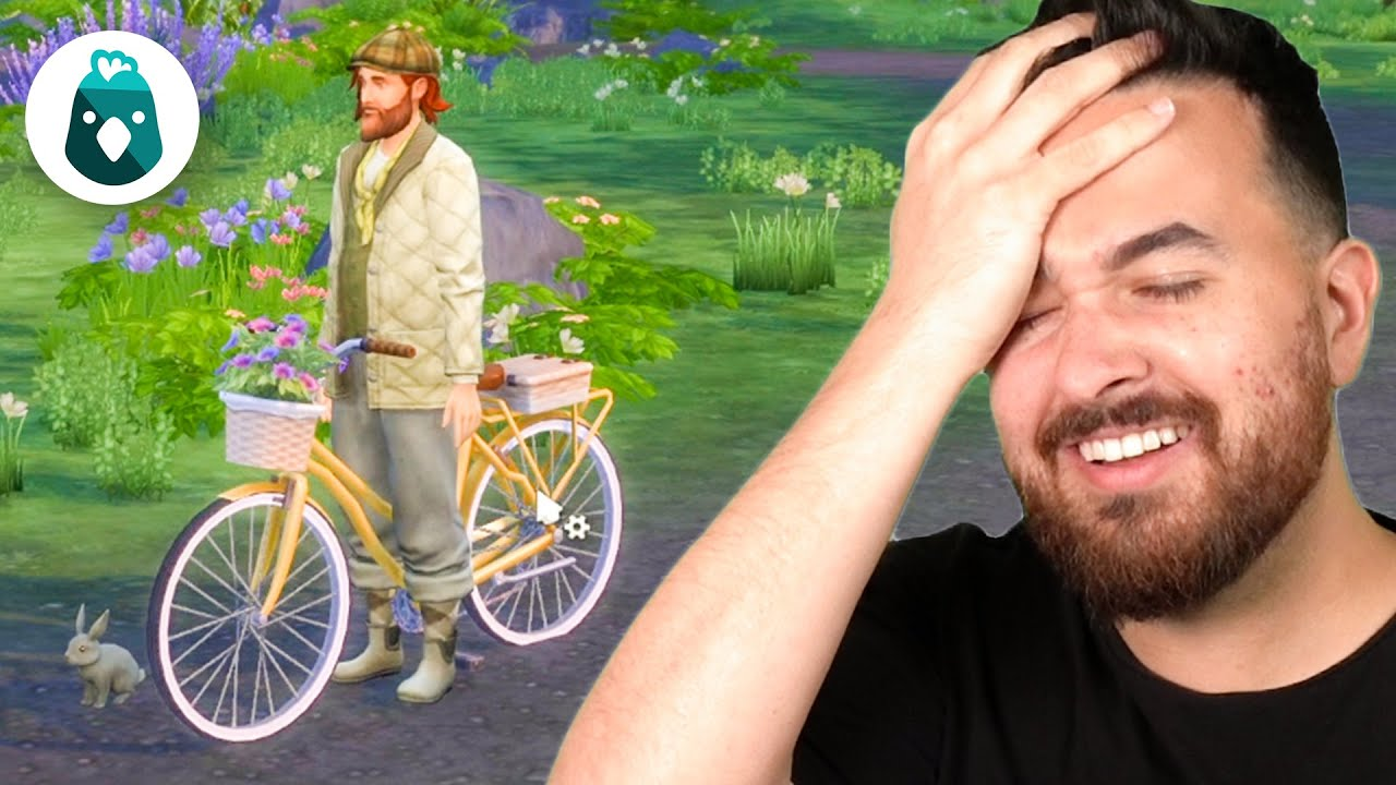 Who needs to ride a bike when you can walk it? The Sims 4 Cottage Living (Part 11)
