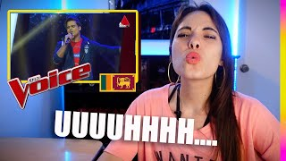 Latina REACTION to Earth Song | Blind Auditions | The Voice Sri Lanka Thumbnail