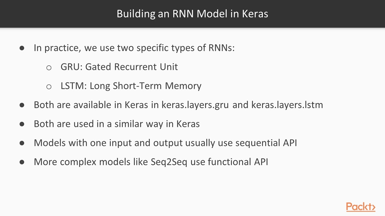 Troubleshooting Python Deep Learning: Building an RNN Model in Keras |  packtpub com