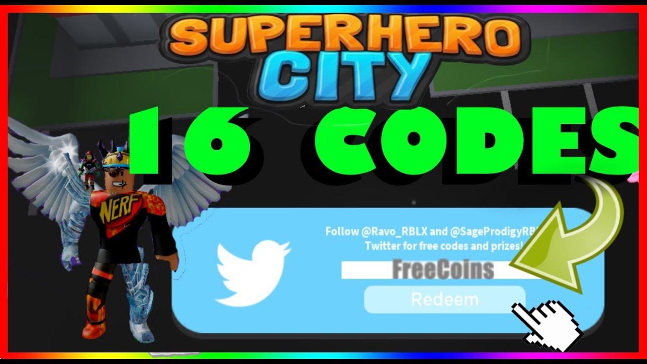 All New 16 Superhero City Codes 2019 Roblox Youtube