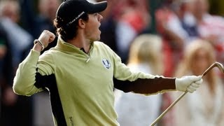 Rory Mcilroy Chip-in at Ryder Cup