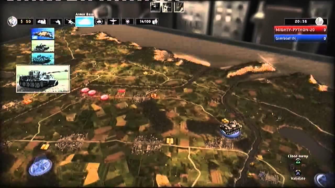 RUSE Multiplayer 1 vs 1 map Blitz 12 PS3 YouTube