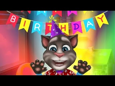 My Talking Tom Happy Birthday Level 40 Gameplay Cat Tom Kids Personal Cares Igameplaydroid
