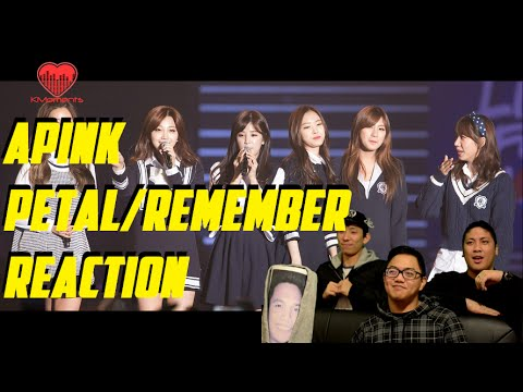 [4LadsReact] APINK (에이핑크) - Petal And Remember Live Stage Reaction
