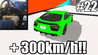BeamNG.Drive #22 - Desci a Rampa Gigante a 300km/h SEM FREIO!! (G27 mod)
