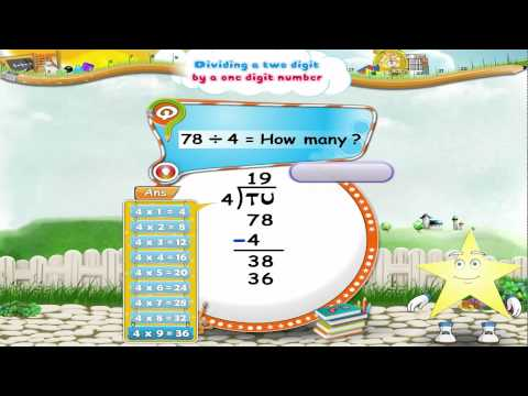 Learn Grade 3 - Maths - Dividing a Two Digit Number