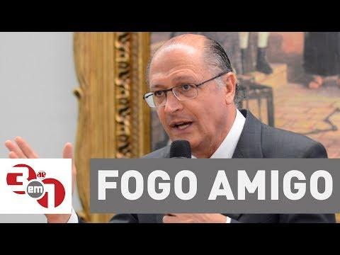 """João Doria cita Geraldo Alckmin e diz que """"fogo amigo dói para chuchu"""""""
