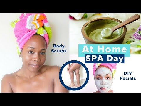 DIY AT HOME SPA DAY | Body Scrub, Facial Mask & SUPER Soft Feet Remedies