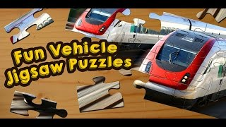 Cars, Trucks and Trains Jigsaw Puzzles Game for Kids - App Gameplay Video