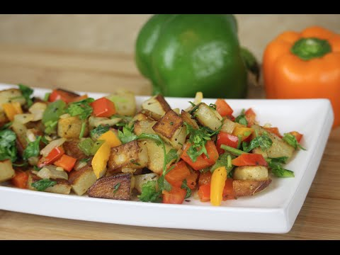 Bell Peppers And Potato Hash - Episode 32 - Amina Is Cooking