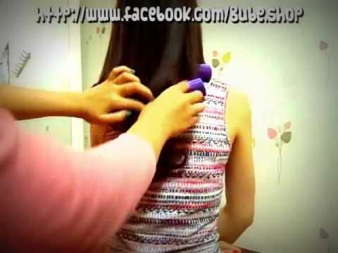 Hướng dẫn make up - Tự uốn tóc xoăn cụp xoăn đuôi với lô sên
