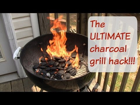 THE ULTIMATE charcoal grill hack!!!