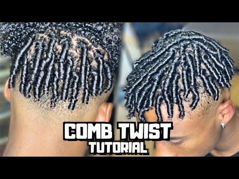 comb-twist/finger-coils-for-men-tutorial-|-prettyboyfloyd-🌹
