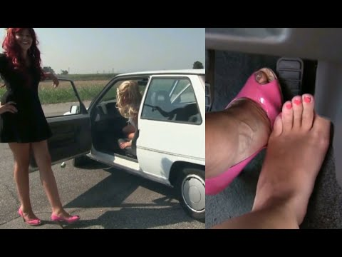 Miss Barbie and Miss Melanie - Crazy Girls Revving | Trailer Pedal Pumping