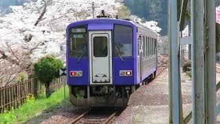 JR関西本線・笠置駅にて 普通・亀岡ゆき発車