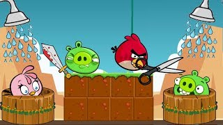 Angry Birds Take A Shower 2 - HELP STELLA STEALING SHOWER FROM PIGGIES ALL LEVELS!