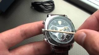 Обзор наручных часов с скрытой камерой (HD 720р)